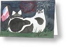 Patriotic Cats Greeting Card