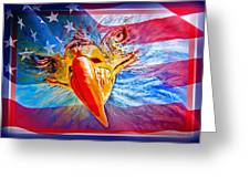Patriotic Eyecon Greeting Card by Donna Proctor