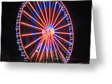 Patriotic Ferris Wheel Greeting Card