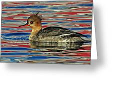 Patriotic Merganser Greeting Card