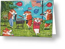 Patriotic Pups Greeting Card