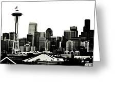 Patriotic Seattle Greeting Card