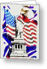 Patriotic Symbolism Greeting Card
