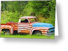 Patriotic Truck Greeting Card