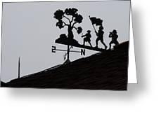 Patriotic Weathervane Greeting Card