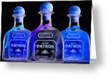 Patron Tequila Black Light Greeting Card