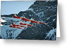 Patrouille Suisse Vll Greeting Card