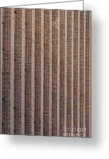 Patterend Brick Facade Greeting Card