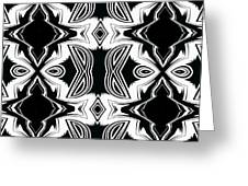 Pattern Black And White Art No.287. Greeting Card