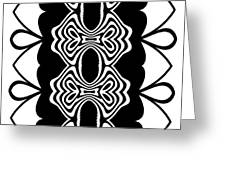 Pattern Black White Abstract Art No.293. Greeting Card