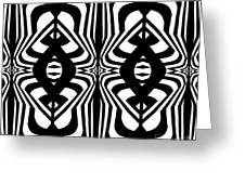 Pattern Geometric Black White Abstract Art Print No.328. Greeting Card