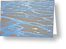 Pattern In Mud Flats At Low Tide In Kachemak Bay From Homer Spit-alaska Greeting Card