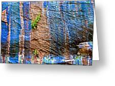 Pattern On Wet Canyon Wall From River Walk In Zion Canyon In Zion National Park-utah  Greeting Card