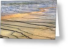 Patterns At Yellowstone #1 Greeting Card