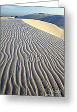 Patterns In The Sand Brazil Greeting Card