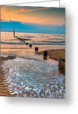 Patterns On The Beach  Greeting Card