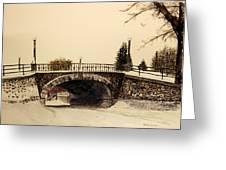 Patterson Creek Bridge In Winter Greeting Card