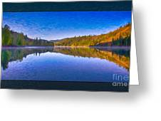 Patterson Lake Fall Morning Abstract Landscape Painting Greeting Card