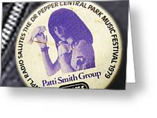 Patti Smith '79 Greeting Card