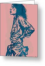Patti Smith Amsterdam 1976 Pop Art Poster Greeting Card