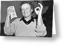 Patty Berg Shoots A 64 Greeting Card