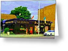 Patty's Pub Guinness On The Glebe Restaurant Bar Bank And Ossington Paintings Of Ottawa Art Cspandau Greeting Card
