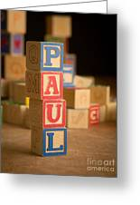 Paul - Alphabet Blocks Greeting Card
