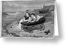 Paul And Florence Dombey Greeting Card
