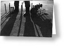 Paul Bunyon Statue Chairs Garbage Can Posts Leo's Auto Supply Tucson Arizona Greeting Card