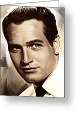 Paul Newman Artwork 1 Greeting Card