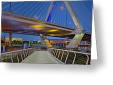 Paul Revere Park And The Zakim Bridge Greeting Card