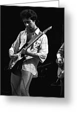 Paul At Work On His Guitar In 1977 Greeting Card