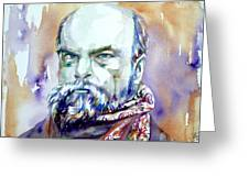 Paul Verlaine - Watercolor Portrait.1 Greeting Card