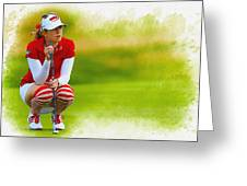 Paula Creamer - The Ricoh Women British Open Greeting Card