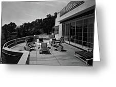 Paved Terrace At The Residence Of Mr. And Mrs Greeting Card