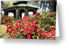 Pavilion And Azaleas  Greeting Card