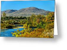 Payette River And Squaw Butte Greeting Card