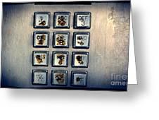 Payphone Keypad Greeting Card