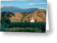 Payson Temple Mountains Greeting Card