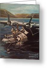 Pby 5 Loading At Pearl Harbor Greeting Card