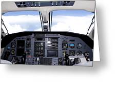 Pc 12 Cockpit Greeting Card