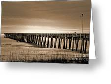 Pc Beach Pier Greeting Card