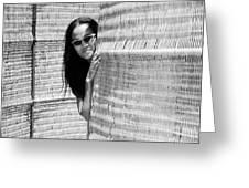 Pe Po It's Mona Greeting Card