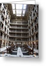 Peabody Library Baltimore Greeting Card