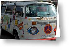 Peace And Love Van Greeting Card