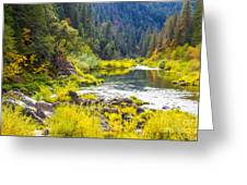 Peace And Tranquility In The Heart Of Feather River, Quincy California Greeting Card