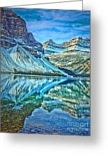 Peace At Bow Lake Greeting Card