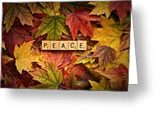 Peace-autumn Greeting Card