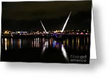 The Peace Bridge At Night Greeting Card