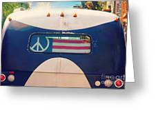 Peace Bus Greeting Card